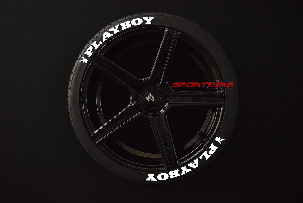 PLAYBOY SportTyre EVO4 FASHION. Set 8 + 1 Activador + 1 Limpiador Letras