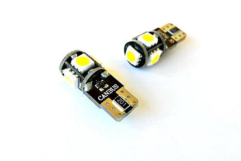 Bombilla de exterior e interior LED W5W-T10
