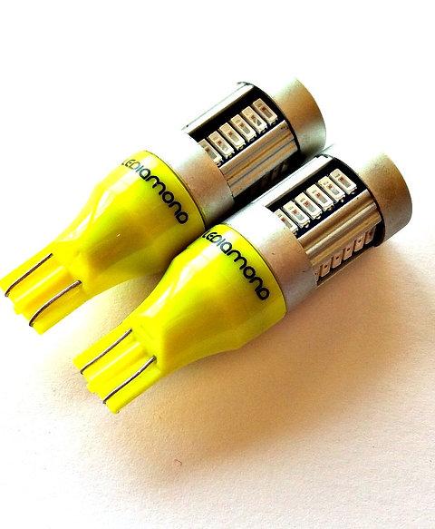 LEDiamond WY16W-T15. Premium LED Naranja intenso. SAMSUNG 4014. CANBUS.