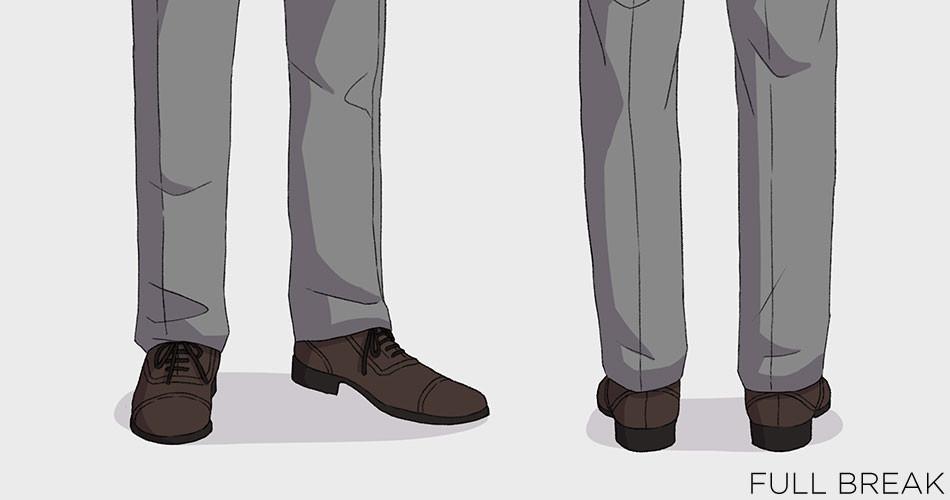 ความยาวขากางเกงสูท ความยาวขากางเกงสูทที่เหมาะสม