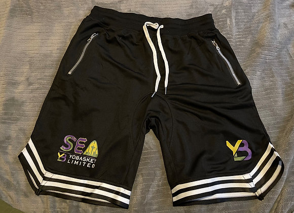 Town business mesh basketball shorts