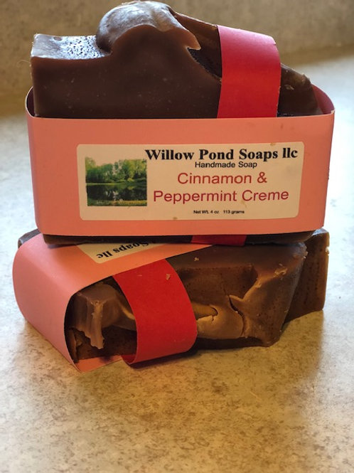 Cinnamon Peppermint Creme Soap