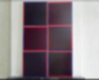 Le miroir d'ombre, résine transparente de BRJ,  6 modules sur toile, 100 x 150 cm, 2013