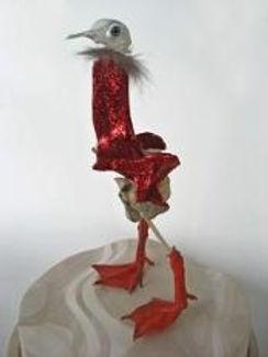 sculpture d'oiseau hybride