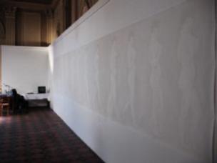 dessin de Thierry Gravallon au mur de la Chapelle du Carmel