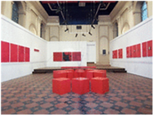Vue de l'exposition Martine Lafon
