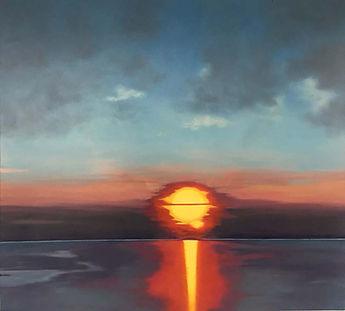 sunset - huile sur toile - 97 x 89 cm.jp