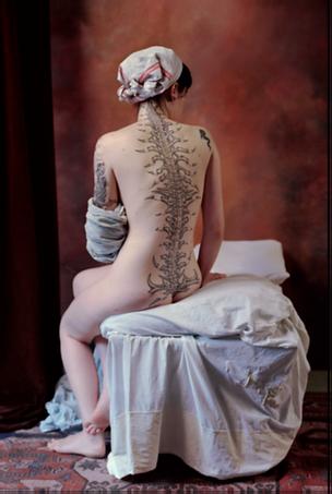 La baigneuse de Valpinçon,2007, tirage lambda sous diasec,  106 x 160 cm. © Stéphane Lallemand