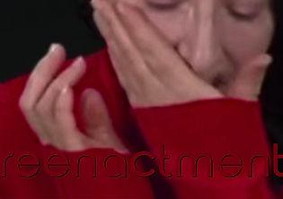 visage partiel de Marina Abramovic