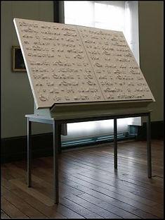 Livre blanc / 2009, 2 panneaux 106 x 71 x 5 cm  / plâtre, bois, acrylique