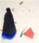 Dame à la cape, dessin de Joël Kermarrec