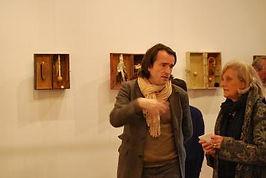 Augustin Pineau et Bénédicte Vesval lors du vernissage de l'exposition