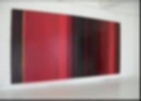 Le rouge entre ombre et lumière  diptyque, 200 x 400 cm, 2006