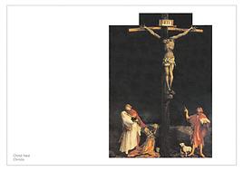 Christ haut   Christo  Rébus onomastique, 2002.   Carton de l'exposition