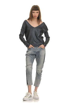 One Teaspoon jeans, baggy fit with side stripe 20051