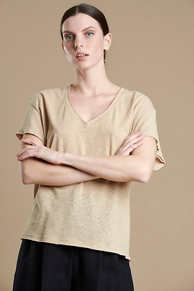 House of Angels Sand colour T-shirt S21767