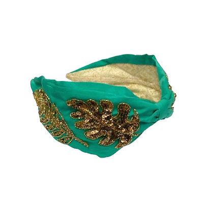 Namjosh emerald handmade headband