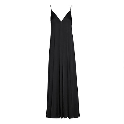 Access floating black camisole dress with satin look 3559156