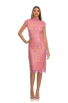 Forever Unique rose pink midi dress