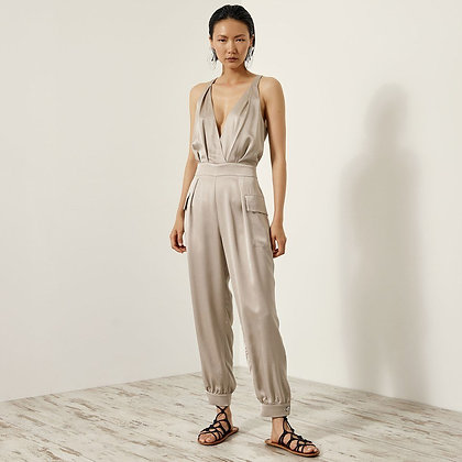 Access jumpsuit with satin look 5506156