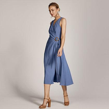 Access midi dress in raff colour
