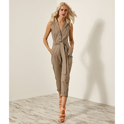 Access jumpsuit in smoky colour and lapel