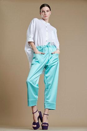 Avant Garde loose trousers in mint colour S21735