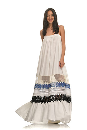Devotion long dress with embroidery 020335
