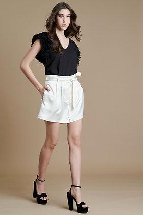 Avant Garde black blouse with sleeve detail S21762