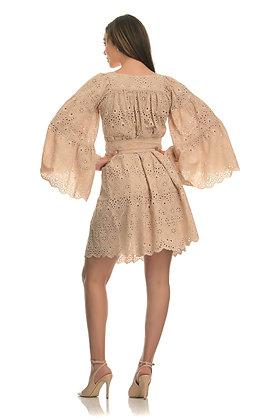 Avant Garde almond short embroidery dress S2010015