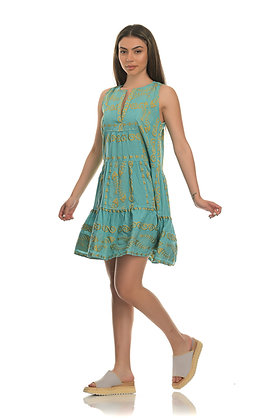 NEMA sleeveless dress with embroidery 2001
