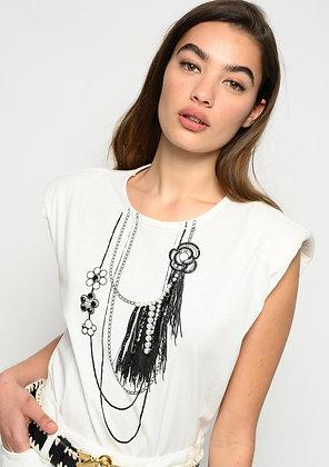 Pinko Mistico T-shirt in white colour