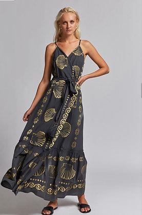 NEMA Sirene grey long dress with embroidery 2000