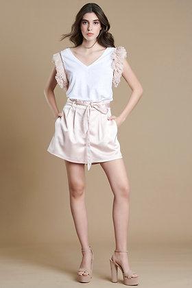 Avant Garde shorts satin effect S21818
