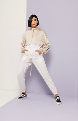 NEMA loungewear white pants with hose ending