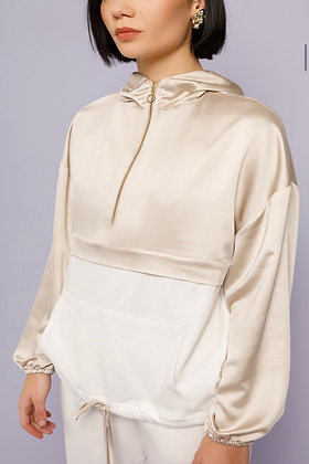 NEMA sweater blouse with silky effect