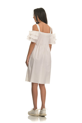 Roberta Biagi white off shoulder mini dress ABI1494