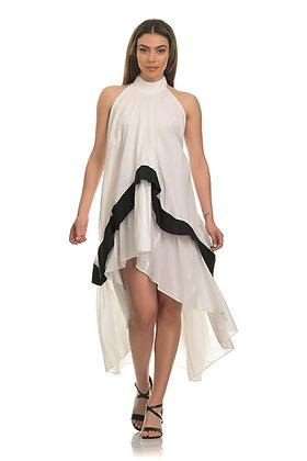 Stelios Koudounaris asymmetric layered dress DRS1474