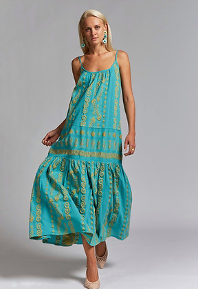 NEMA Galene light blue maxi dress with embroidery 2010