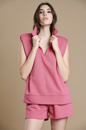 House of Angels sleeveless sweatshirt with shoulder pads S21750