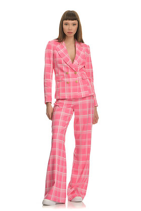 Forever Unique plaid pink trousers