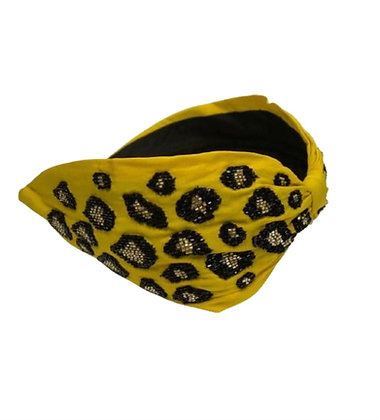 Namjosh yellow embroidered handmade headband