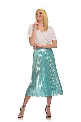 Dixie pleated midi skirt