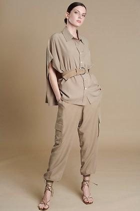 Avant Garde beige loose shirt