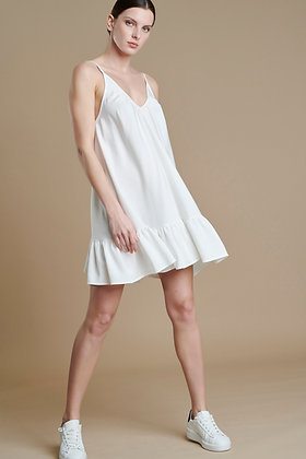 Avant Garde beige short loose dress with straps