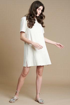 Avant Garde mini dress in oatmeal colour S21708