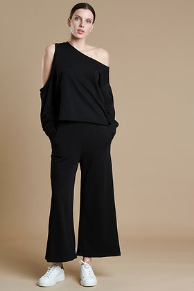 House of Angels black top asymmetric with one shoulder sleeve S21738