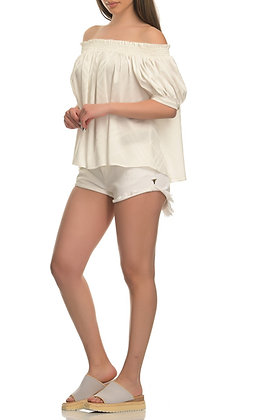 House of Angels white shorts with belt APRIL
