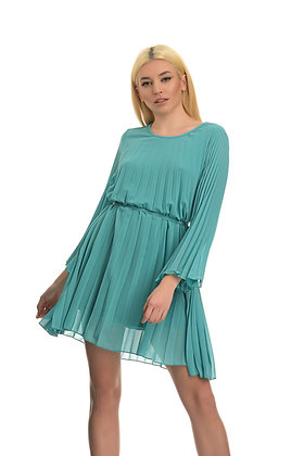 Dixie pleated short dress in light blue colour