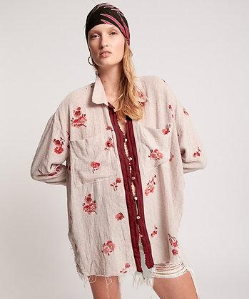 One Teaspoon Western Rose Long Shirt 24196